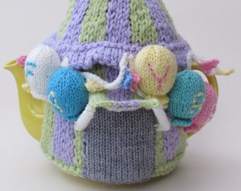 Summer Fayre Marquee Tea Cosy Knitting Pattern