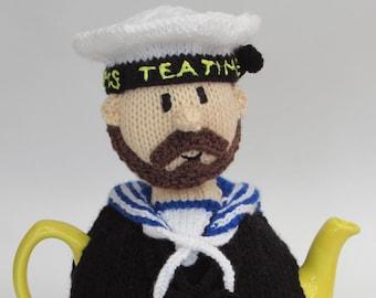 Royal Navy Sailor Tea Cosy Knitting Pattern