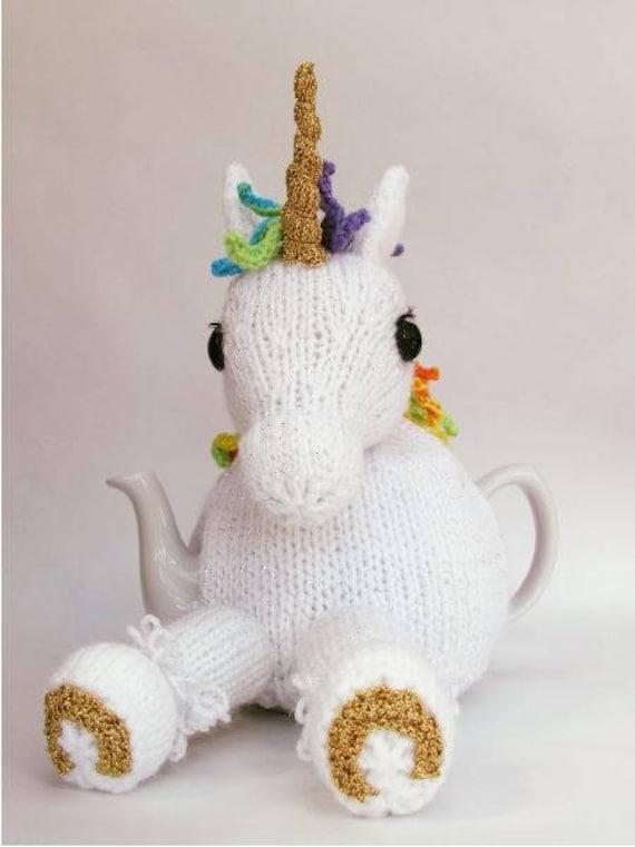 Unicorn Tea Cosy Knitting Pattern Etsy