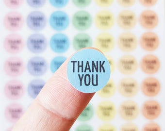 Small Circle Stickers - Happy Post Stickers - Happy Mail - Thank You Stickers - Custom Text Stickers - 70 x 15mm Circle Stickers