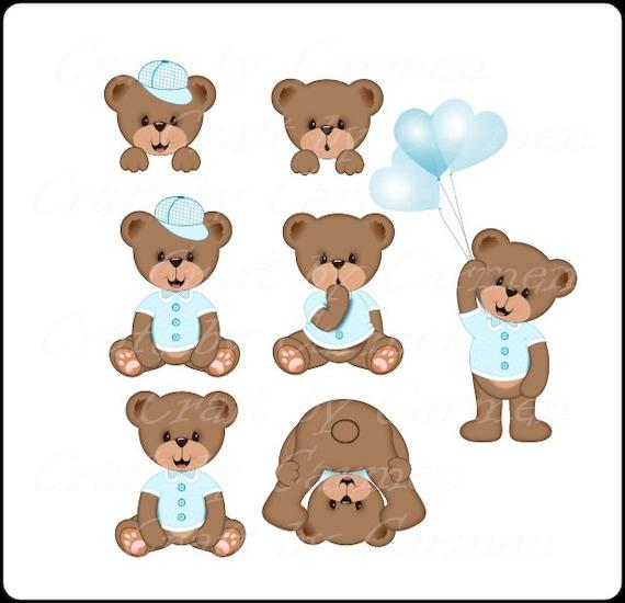 Teddy Bear Clip Art Cute Teddy Bears Bear Baby Bears Etsy