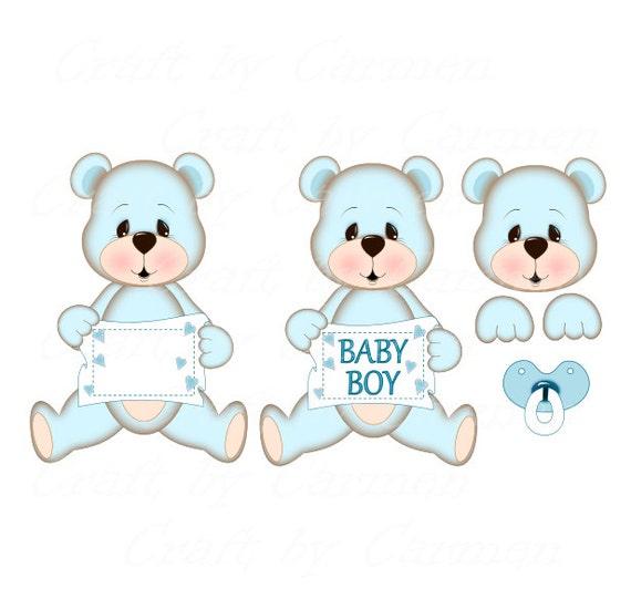 Oso de peluche clip arte lindo oso osos bebé arte digital | Etsy
