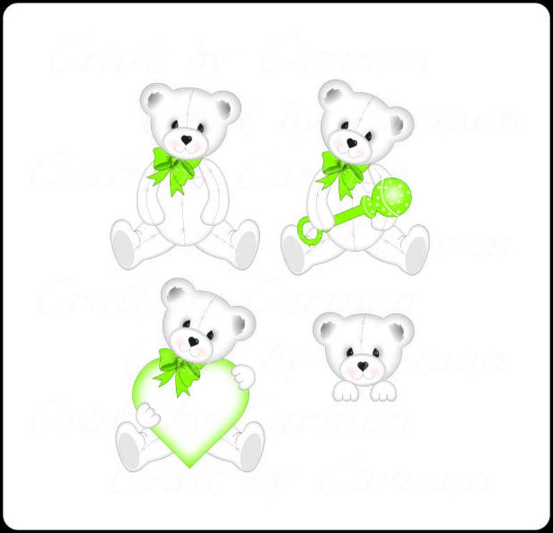 Teddy Bear Clip Art Cute White Teddy Bearbear Baby Bears