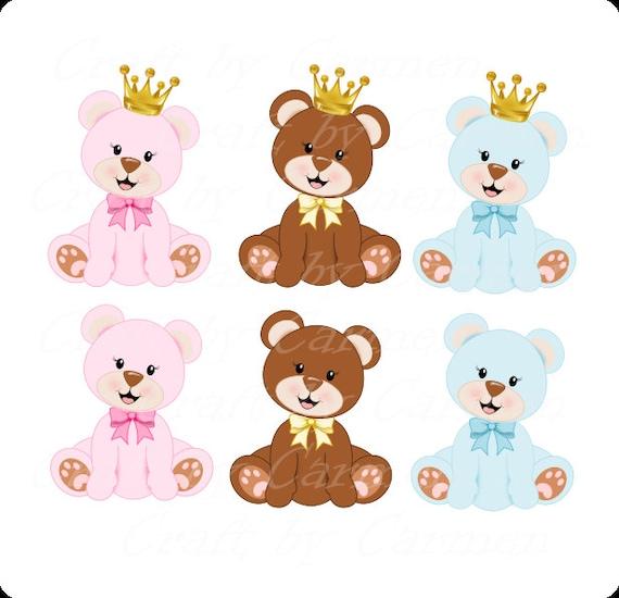 Oso de peluche princesa prince osito corona dulce oso de | Etsy