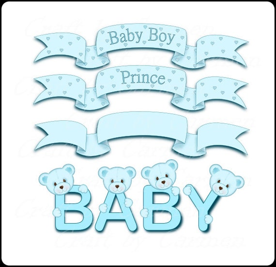 Banners Clip Art Baby Clip Art Baby Banners Baby Baby Etsy