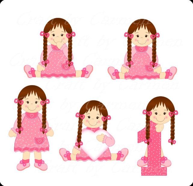 Muñeca prediseñadas muñeca linda chica pequeña chica   Etsy
