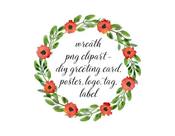 Acuarela flores guirnalda Clipart marco Png Clip Art Green