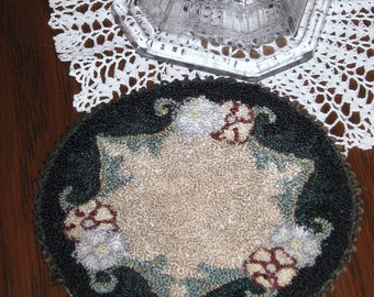 Vintage doll house hooked rug