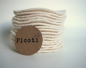 Bamboo***Facial pads in bamboo-viscose,organic cotton/cloth wipes,washable make up remover,reusable round pad double thickness, facial round