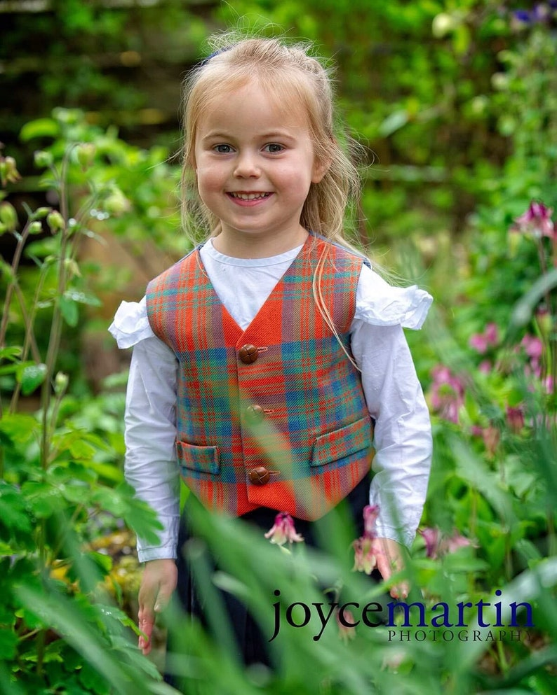 Childs Girl/'sBoy/'s MacIntoshTartan Bespoke WaistcoatVest