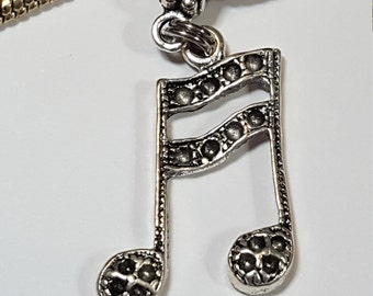 c3921e4bc Silver Dangle Musical Note Charm Spacer Tibetan Silver, Textured Front- Fits  all Designer and European charm bracelet*