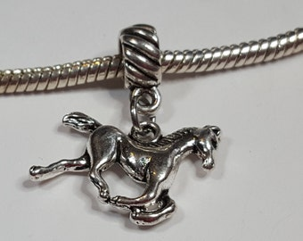 7e53cba3d ... ebay running horse dangle charm dark tibetan silver fits all designer  and european charm bracelet 49ea3