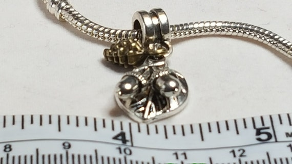 Silver OAK LEAF Fall Autumn Nature Dangle Bead CHARM fits EUROPEAN Bracelet
