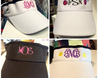 bb244b917a2 Monogrammed Visors - Headsweats - Embroidered Monogram - Tennis Visors