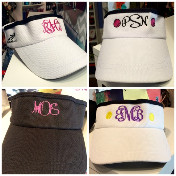 Monogrammed Visors Headsweats Embroidered Monogram  7304d448824