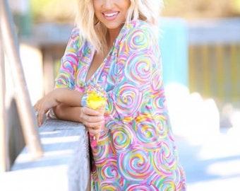 Poolside Palm Womens Tunic - Beach Wear - Swimsuit Coverup - Beach Coverup
