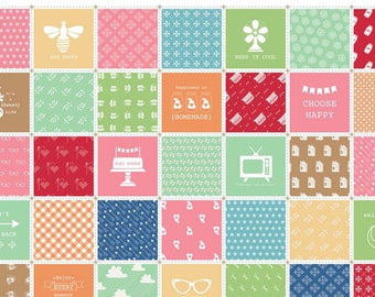 "Laminated Cotton Fabric - L4760-Multi ""Modern Minis"" By Lori Holt of Bee In My Bonnet. 100% cotton, Multi in Laminate"