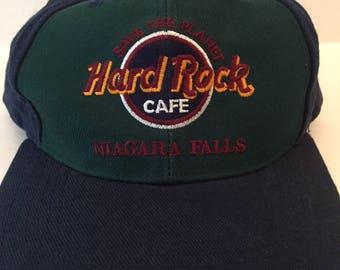 4827779a5b0 Vintage Hard Rock cafe snap back dad hat