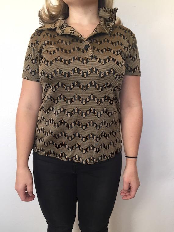 Fendi shirt // womens XS