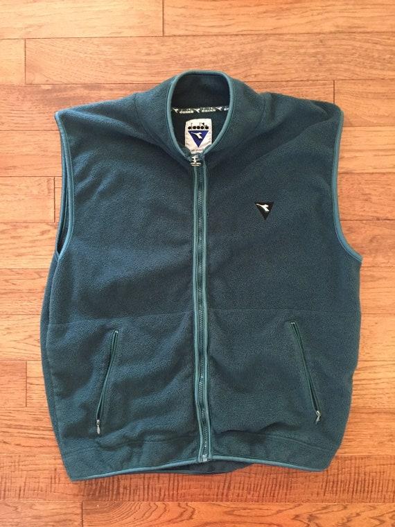 90s Diadora Fleece Vest // mens L