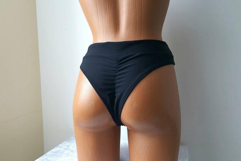 28a5bbaef3 Scrunch waist bikini bottom 90s High waist bikini bottoms | Etsy