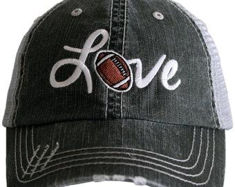 f944fed9d2bcc Free Shipping - Football Love Women s Trucker Hat - KDC-TC-433