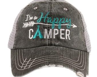 c0b0c2ff2e6 I m A Happy Camper Trucker Hat -IAD-TC-122
