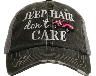 fe53e47dd2db9 Free Shipping - Jeep Hair don t Care Women s Trucker Hat - KDC-TC-161