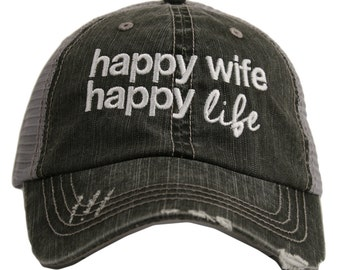 8b165a9685a Free Shipping - Happy Wife Happy Life Today Women s Trucker Hat - KDC-TC-158
