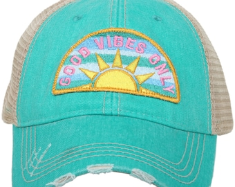 f6687146a40ac Free Shipping - Good Vibes Only Women s Trucker Hat - KDC-TC-484