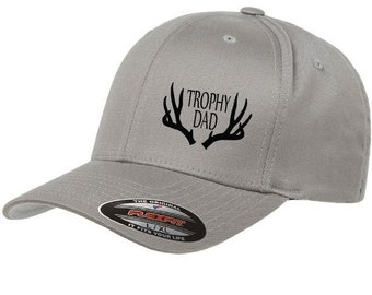 3982501f8cf2e TROPHY DAD Baseball Hat with Deer Antlers