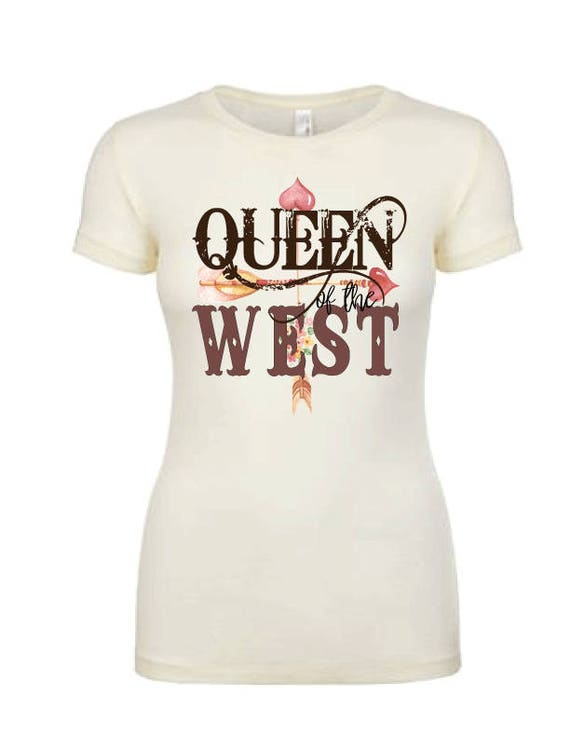3df24936011f42 Women s Western Shirt Queen of the West Shirt Western Tee