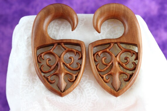 4mm sawo wood stretching Earrings 4mm stretched ears *A040 6g Stretch Earrings 6 gauge  4 mm Stretch Earrings 6g Stretched ears