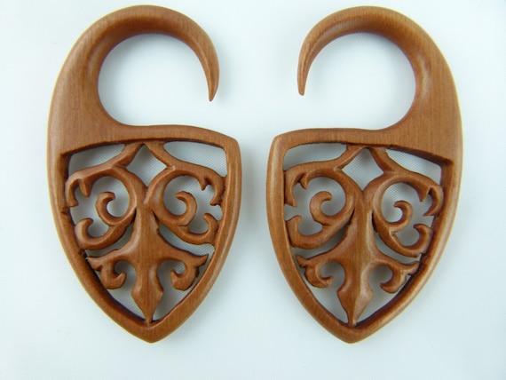 4g Stretch Earrings 4 gauge  5 mm Earrings 5mm sawo wood stretching Earrings 4g Stretched ears gauged earrings *A040