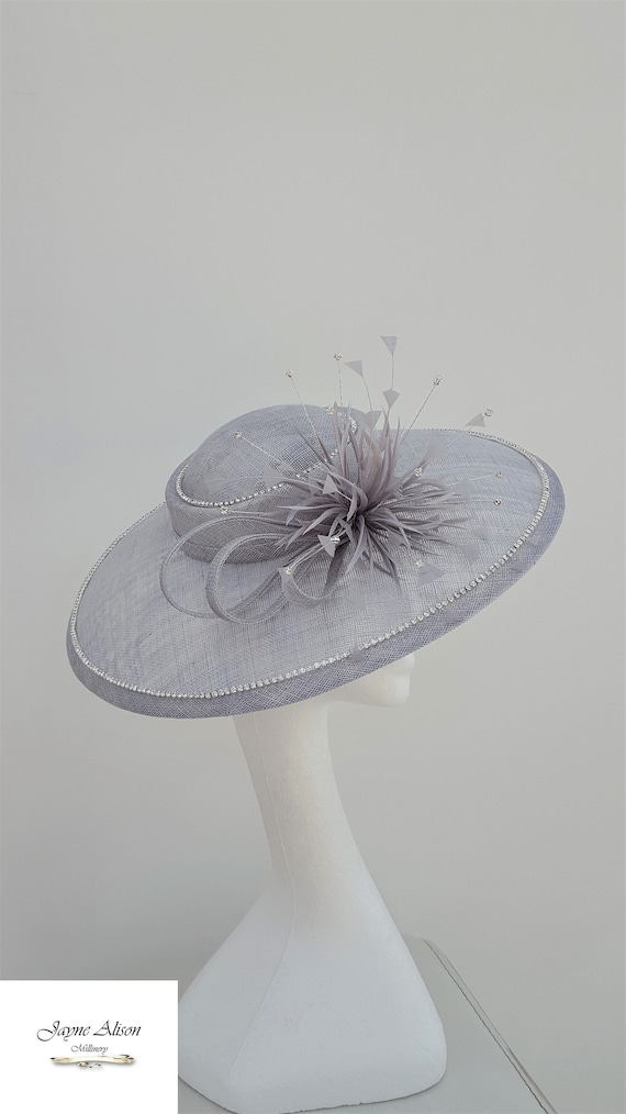Silver Hatinator Wedding Hat Mother of the Bride Diamond  6039f49c584