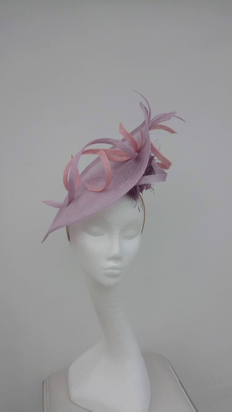 Made to order Kentucky Derby,Royal Ascot Fascinator,Lilac Mother of the Bride Lilac Fascinator.Pink Hatinator,Wedding Hat Ladies Day