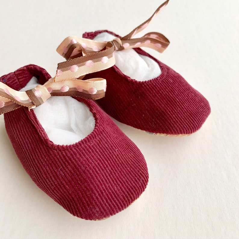 57ce04d849c70 Mary Jane baby shoes, baby girl shoes, 0-3 months baby girl clothes,  burgundy shoes, soft sole baby shoes, baby girl gift, Christmas gift