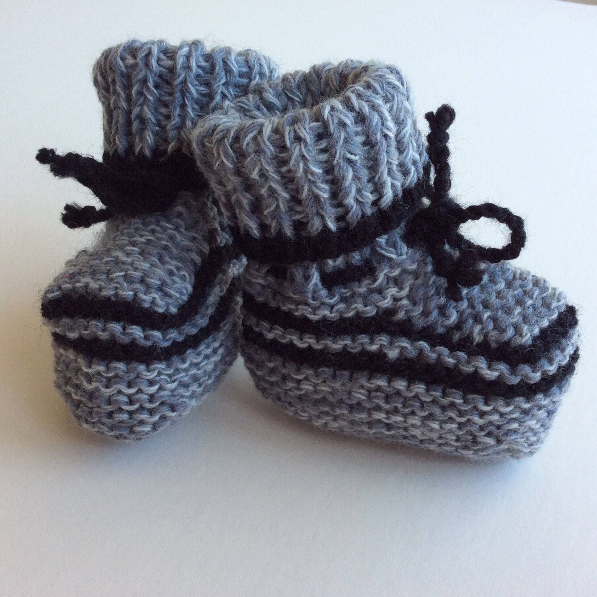 dfbf18d3ee8d7 hand knitted baby booties, unisex baby clothes, baby boy clothes, baby girl  clothes, grey and black babywear, warm baby shoes, 0-3 months