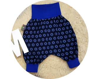 Harem trousers, trousers, baby pants, baby, wax trousers, Pumphose, stars, star, stars, blue, navy, dark blue