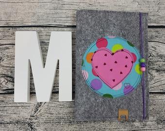 UHefthsleeve U-Heft Heart Heart Heart Love Personalized Embroidered U Heft Baby Child Investigation Sheft Felt Uheft Case U Core Case Vaccine Pass