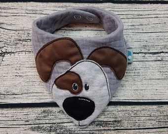Baby Scarf Dog Bello triangular baby scarf muslin cloth muslin Bandana Animal Farm Zoo personalized embroidered burb cloth