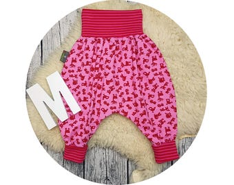 Wax trousers, Pumphose, harem trousers, baby pants, baby, trousers, Jerseyhose, Püreh, roe Deer, fox, hedgehog, forest