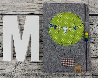 3in1 u Hefthülle U-staple Ballon balloon personalisert embroidered u staple Baby Child Examination booklet felt Uheft sleeve UheftHülle