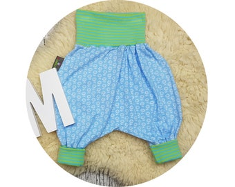 Trousers, Jerseyhose, wax trousers, Pumphose, harem trousers, baby pants, baby, flower, flowers