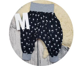 Baby, trousers, Jerseyhose, wax trousers, Pumphose, harem trousers, baby pants, flamingo, hip, hipster