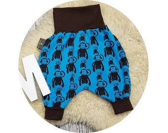 Trousers, baby pants, baby, monkey, monkey, zoo, animals, monkey, wax trousers, Pumphose, harem trousers,