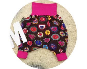 Baby pants, baby, trousers, Jerseyhose, wax trousers, Pumphose, harem trousers, roe deer, mushrooms