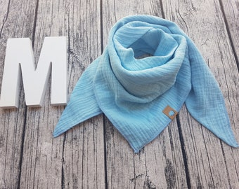 Muslin Scarf burb scarf muslin cloth baby scarf hipster Hipstertuch grey old Rose blue white