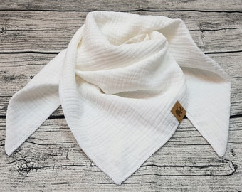 Black white muslin cloth burb scarf muslin cloth baby scarf hipster scarf toddler