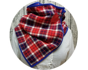 Winter scarf, winter towel, winter, scarf, shawl, diaper scarf, scarf, xxl-cloth, checkered, red, Blue, London, British, Unionjack